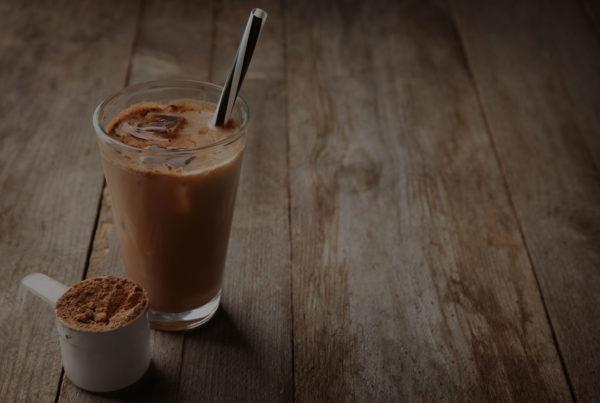 chocolate protein shake image